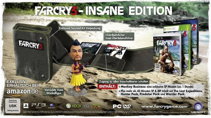 far cry 3 insane edition inhalte Far Cry 3 Insane Edition