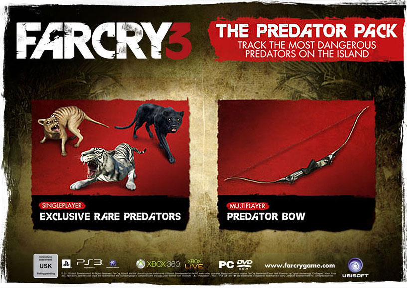 far cry 3 predator pack Far Cry 3 Insane Edition