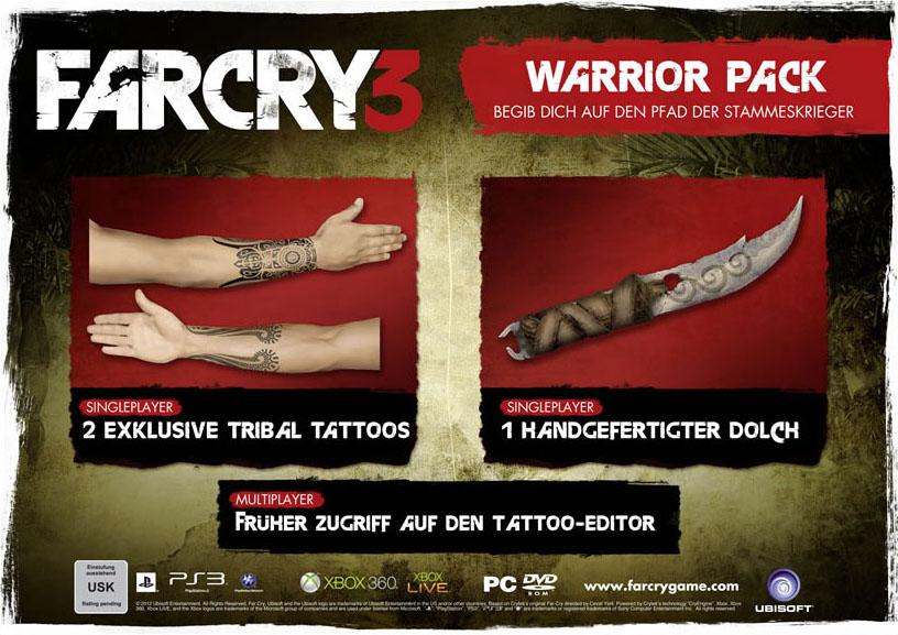 far cry 3 warrior pack Far Cry 3 Insane Edition