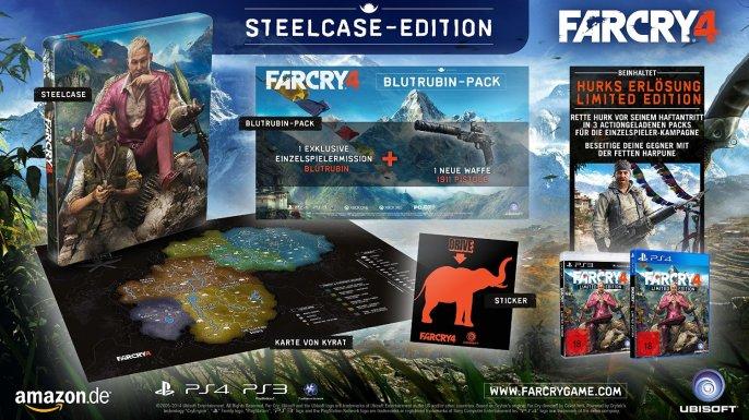 far cry 4 playstation 3 4 amazon steelcase edition 686x385 Far Cry 4 Editionen