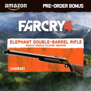 far cry 4 pre order amazon elephant double barrel rifle 300x300 Pre Order Bonus