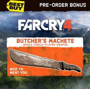 far cry 4 pre order best buy butchers machete Pre Order Bonus