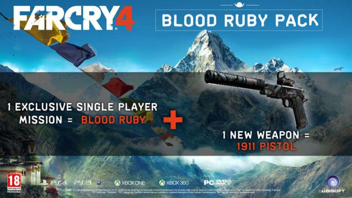 far cry 4 pre order blood ruby pack 1911 pistol 686x386 Pre Order Bonus