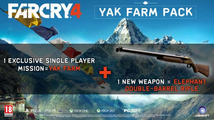 far cry 4 pre order yak farm pack double barrel elephant rifle 686x386 Pre Order Bonus